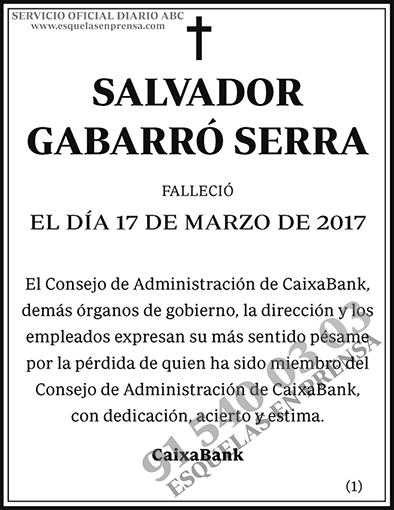 Salvador Gabarró Serra